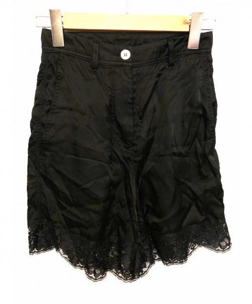 MM6(エムエムシックス)MM6 (エムエムシックス) レース切替ショートパンツ ブラック サイズ:38の古着・服飾アイテム
