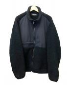 UNDERCOVER(アンダーカバー)の古着「ポーラフリースジップ BZ INDUSTRIAL A」|ブラック