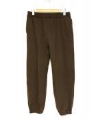 UNDERCOVER(アンダーカバー)の古着「裏起毛トレパン INDUSTRIAL AMBIENT」|ブラウン