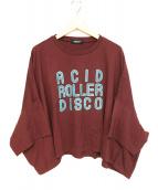 UNDERCOVER(アンダーカバー)の古着「ドルマンスリーブTシャツ」|ワインレッド