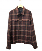 UNDERCOVER()の古着「アーミーシャツブルゾン」 ブラウン