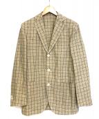 BOGLIOLI(ボリオリ)の古着「DOVERウインドウペン3Bジャケット」|ベージュ