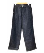 AURALEE(オーラリー)の古着「ワイドデニムパンツ」|インディゴ