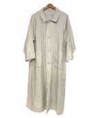 fog linen work(フォグリネンワーク)の古着「リネンロングコート」|生成り