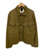 MHL.(エムエイチエル)の古着「クロップドアーミージャケット」|カーキ