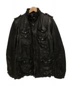 NEIL BARRETT(ニールバレット)の古着「レザー ジャケット」|ブラック