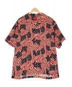 Supreme(シュプリーム)の古着「Flag Rayon S/S Shirt」 レッド
