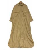 AVECMOI(アヴェクモワ)の古着「シャツワンピース」|ベージュ