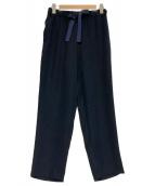 saqui(サキ)の古着「テーパード リボン パンツ」|ネイビー