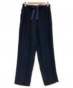 saqui(サキ)の古着「テーパード リボン パンツ」 ネイビー