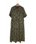 Jocomomola(ホコモモラ)の古着「総柄ワンピース」 グリーン