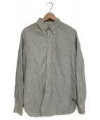 Engineered Garments(エンジニアードガーメン)の古着「ストライプシャツ」|グレー×ホワイト