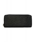 LOUIS VUITTON(ルイヴィトン)の古着「ラウンドファスナー長財布」|ブラック