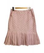 CHANEL(シャネル)の古着「レジメンタルプリーツミディスカート」|ピンク