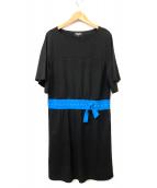 SONIA RYKIEL Collection(ソニア リキエル コレクション)の古着「トロンプルイユドレス ワンピース」|ブラック