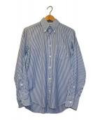 ()の古着「ストライプシャツ」 ホワイト×ブルー