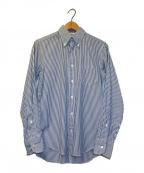 INDIVIDUALIZED SHIRTS(インディビジュアライズドシャツ)の古着「ストライプシャツ」|ホワイト×ブルー