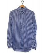 ()の古着「ギンガムチェックシャツ」 ホワイト×ブルー