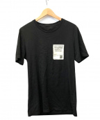 Maison Margiela()の古着「STEREOTYPEパッチTシャツ」 ブラック