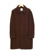 UNITED TOKYO(ユナイテッドトウキョウ)の古着「ウールステンカラーコート」|ブラウン