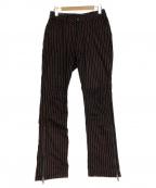 PLEASURES(プレジャーズ)の古着「ストライプパンツ」 ブラック×レッド