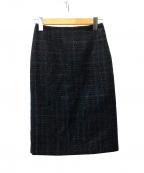 EPOCA(エポカ)の古着「アートテープツイード スカート」|ネイビー