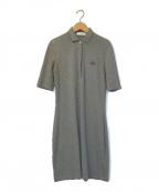 LACOSTE(ラコステ)の古着「スリムフィットポロシャツドレス」|ブラウン
