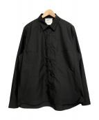 DIGAWEL(ディガウェル)の古着「BIG BUTTON SHIRT/オーバーサイズシャツ」 ブラック
