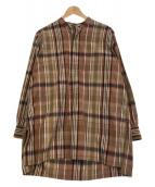 KAPTAIN SUNSHINE(キャプテンサンシャイン)の古着「Atelier Shirt」|ブラウン