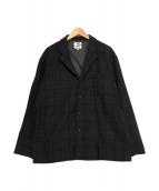 SON OF THE CHEESE(サノバチーズ)の古着「チェックジャケット」|グリーン×ネイビー