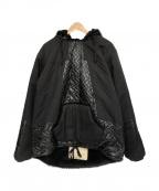 MONITALY(モニタリー)の古着「Panelled Hooded Pullover」|ブラック