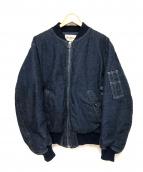 TENDERLOIN(テンダーロイン)の古着「デニムMA-1ダウンジャケット」|インディゴ