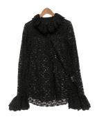 ANNA SUI(アナスイ)の古着「フリルデザインレースブラウス」|ブラック