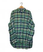 Rags McGREGOR(ラグス マクレガー)の古着「コットンネップネルシャツ」|グリーン