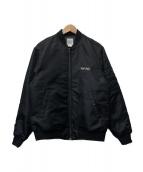 ELNEST(エルネスト)の古着「バック刺繍MA-1ジャケット」|ブラック