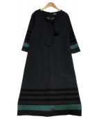 SONIA RYKIEL(ソニアリキエル)の古着「ウールストレッチポンチ ワンピース」|ネイビー