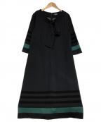 SONIA RYKIEL(ソニア リキエル)の古着「ウールストレッチポンチ ワンピース」|ネイビー