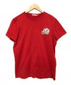 MONCLER(モンクレール)の古着「ダブルフロントワッペンTシャツ」|レッド