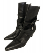 HERMES(エルメス)の古着「アンクルベルトショートブーツ」|ブラック