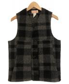 FILSON GARMENT(フィルソンガーメント)の古着「ウォッシュドマックベスト」|ブラック×グレー