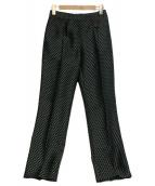 ANNA SUI(アナスイ)の古着「総柄パンツ」 グリーン×ブラック