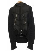 ato(アトウ)の古着「袖切替ダウンジャケット」|ブラック