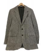 ()の古着「エルボーパッチツイードテーラードジャケット」 グレー
