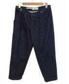 CellarDoor(セラドール)の古着「デニムイージートラウザーズ」|ネイビー