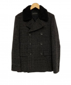 LOUNGE LIZARD(ラウンジリザード)の古着「シンサレートウールPコート」|グレー