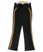 BED J.W. FORD(ベッドフォード)の古着「2タックサイドライントラックパンツ」|ブラック