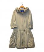 BURBERRY BLUE LABEL()の古着「フーデッドコート」|ベージュ