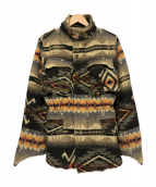 KAPITAL(キャピタル)の古着「ネイティブ柄ウールジャケット」|ベージュ×オレンジ