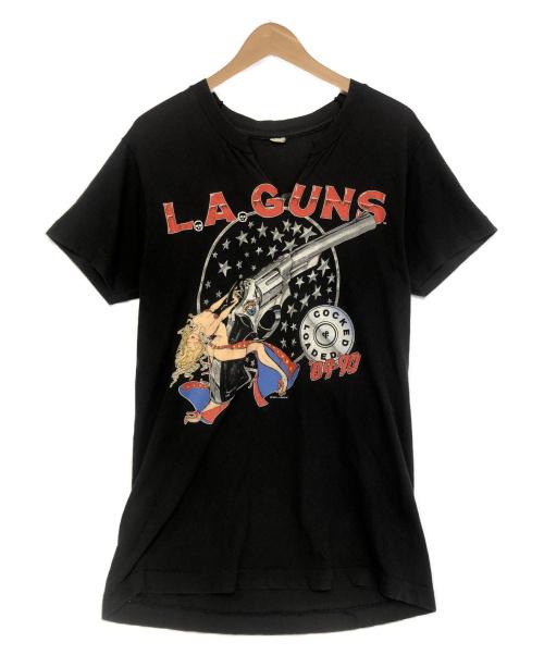 L.A.GUNS(エルエーガンズ)L.A.GUNS (エルエーガンズ) [VNTG]80sCocked & Loaded Tシャツ ブラック サイズ:記載無の古着・服飾アイテム