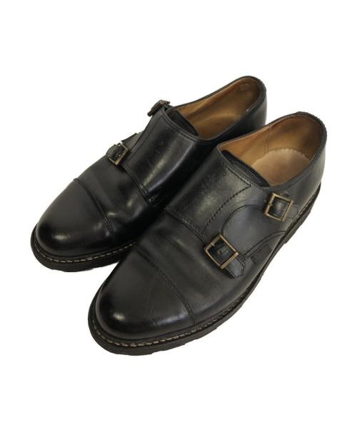 PARABOOT(パラブーツ)PARABOOT (パラブーツ) ダブルモンクストラップシューズ ブラック サイズ:7 ウィリアム williamの古着・服飾アイテム